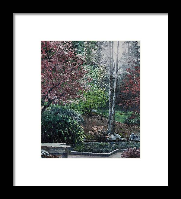 Landscape Framed Print featuring the painting Twins by Paul Illian