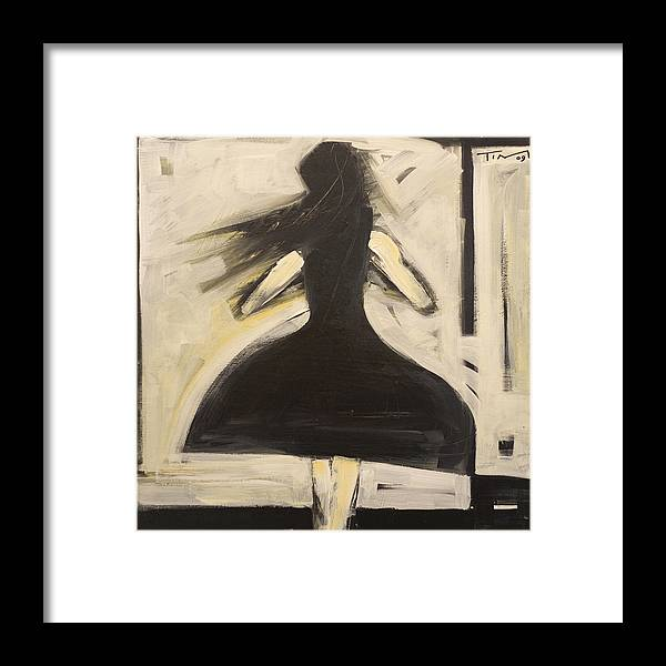 Twirl Framed Print featuring the painting Twirling by Tim Nyberg
