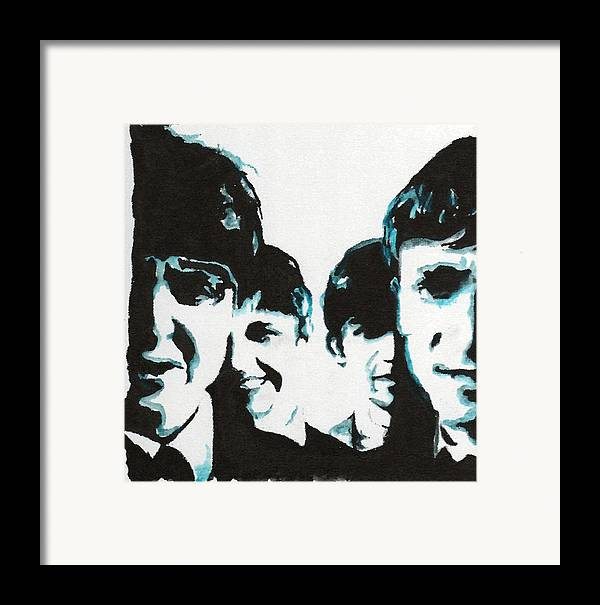 Beatles Framed Print featuring the painting Twist And Shout by Matt Burke
