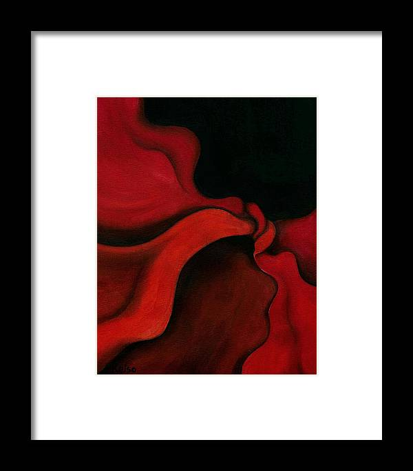 Twist Framed Print featuring the pastel Twist by Bonnie Kelso