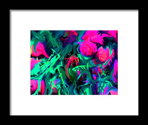 Abstract Framed Print featuring the digital art Twisted by Ian MacDonald