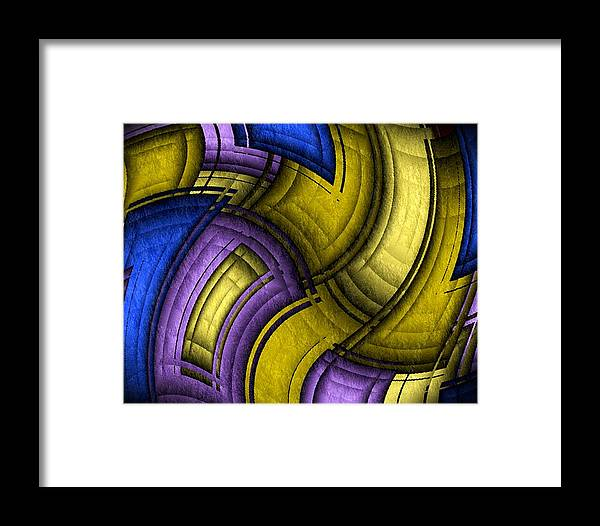 Twisted Framed Print featuring the digital art Twisted Quilt by Terry Mulligan