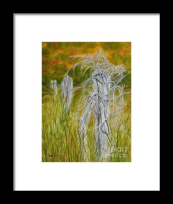 Landscape Framed Print featuring the painting Twisted by Regan J Smith