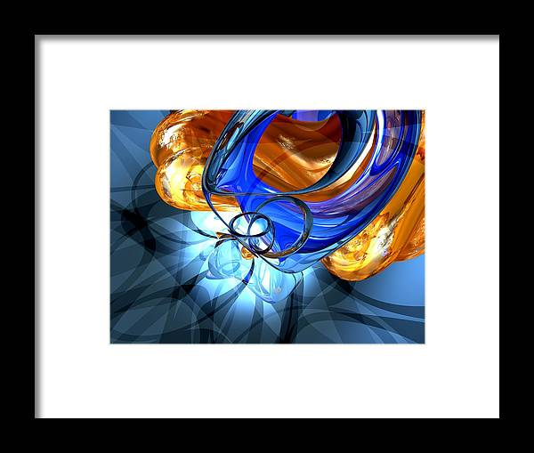 3d Framed Print featuring the digital art Twisted Spiral Abstract by Alexander Butler