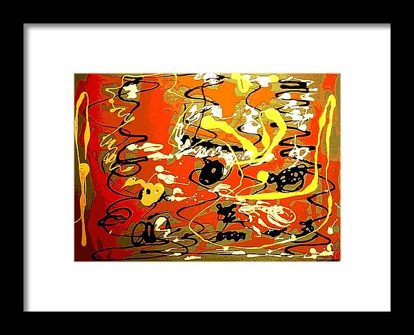 Abstract Framed Print featuring the painting Twister by Rusty Gladdish