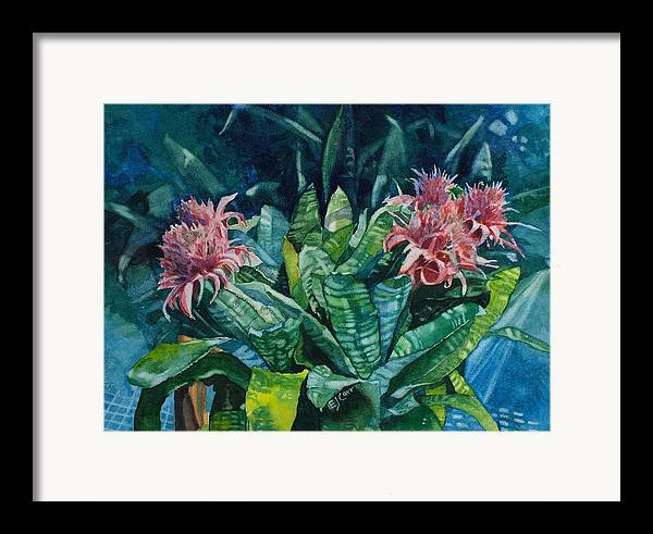 Floral Framed Print featuring the painting Two Against Three by Elizabeth Carr
