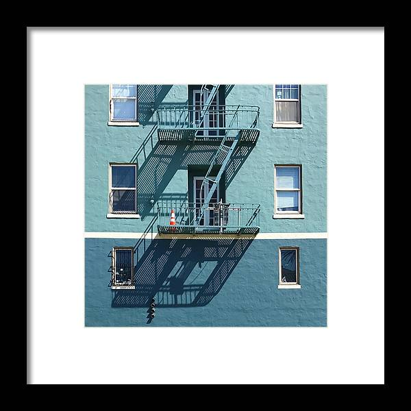 Framed Print featuring the photograph Two Blues by Julie Gebhardt