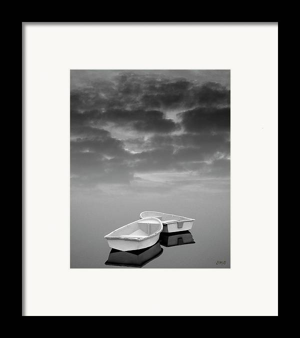 Boats Framed Print featuring the photograph Two Boats And Clouds by Dave Gordon