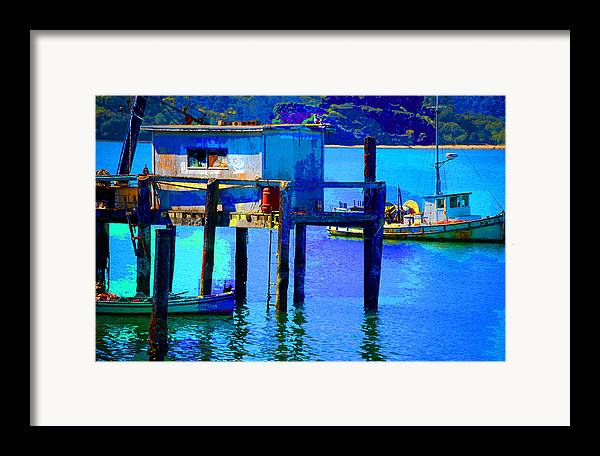 Framed Print featuring the digital art Two Boats by Danielle Stephenson