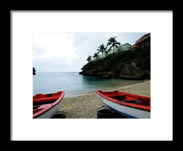 Boats Framed Print featuring the photograph Two Boats, Island Of Curacao by Kurt Van Wagner