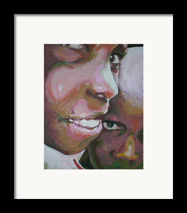 Africa Framed Print featuring the painting Two Boys by Aleksandra Buha
