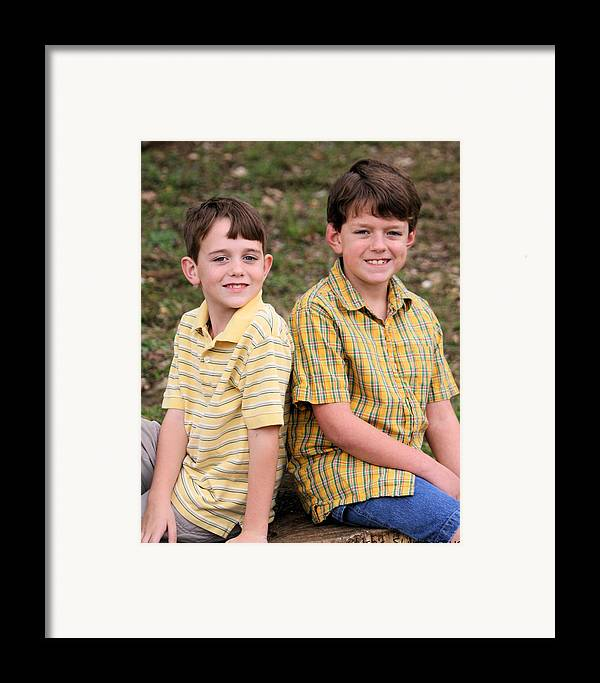 Framed Print featuring the photograph Two Boys by Lisa Johnston