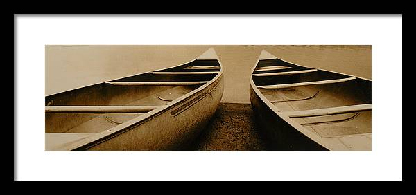 Canoes Framed Print featuring the photograph Two Canoes by Jack Paolini