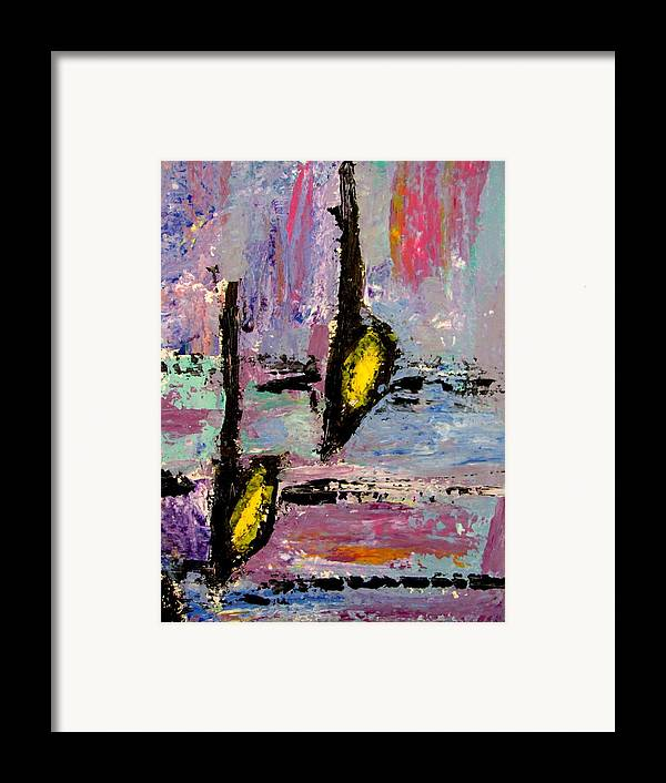 Music Framed Print featuring the painting Two Flats by Anita Burgermeister