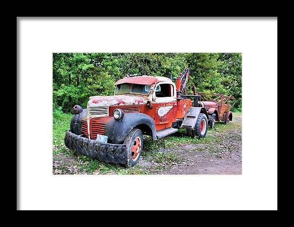 Old Truck Framed Print featuring the photograph Two for One by Kristin Elmquist