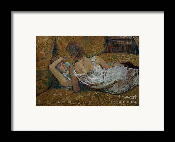 Two Framed Print featuring the painting Two Friends by Henri de Toulouse-Lautrec