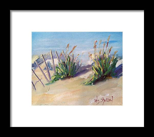 Myrtle Beach Framed Print featuring the painting Two Friends by Wendy Shelley Studios