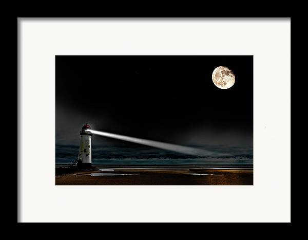 Lighthouse Framed Print featuring the photograph Two Guiding Lights by Meirion Matthias
