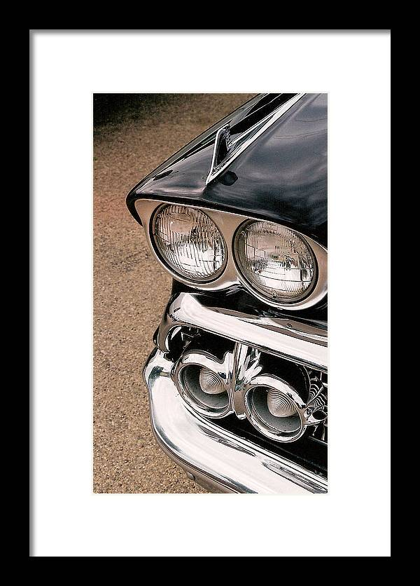 Headlights Framed Print featuring the photograph Two Headlights by Lauri Novak