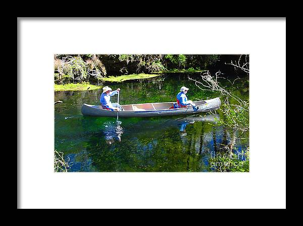 Canoe Framed Print featuring the photograph Two In A Canoe by David Lee Thompson