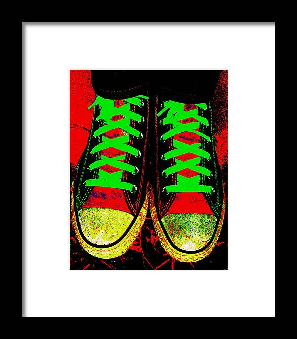 Still Life Framed Print featuring the photograph Two Left Feet by Ed Smith