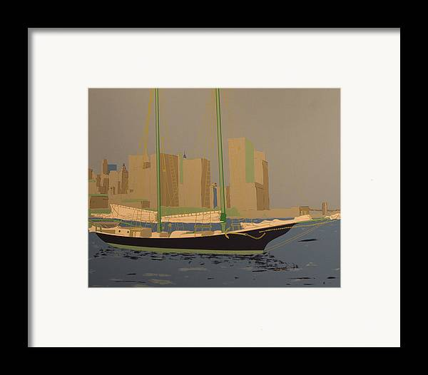 Framed Print featuring the painting Two Masts by Biagio Civale