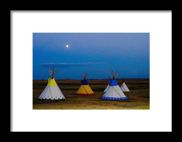 Framed Print featuring the photograph Two Medicine Teepees by Matthew Justis