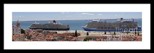 Lisbon Framed Print featuring the photograph Magnificent Cruises by Brenda Kean