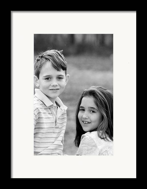 Framed Print featuring the photograph Two Of Us - J Spring Shoot by Lisa Johnston