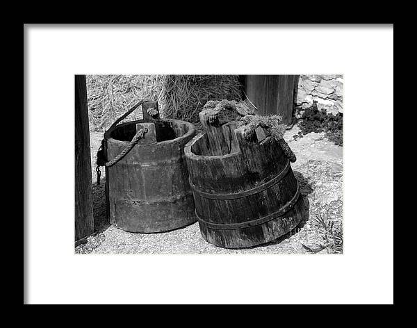 Pales Framed Print featuring the photograph Two Old Pales by David Lee Thompson