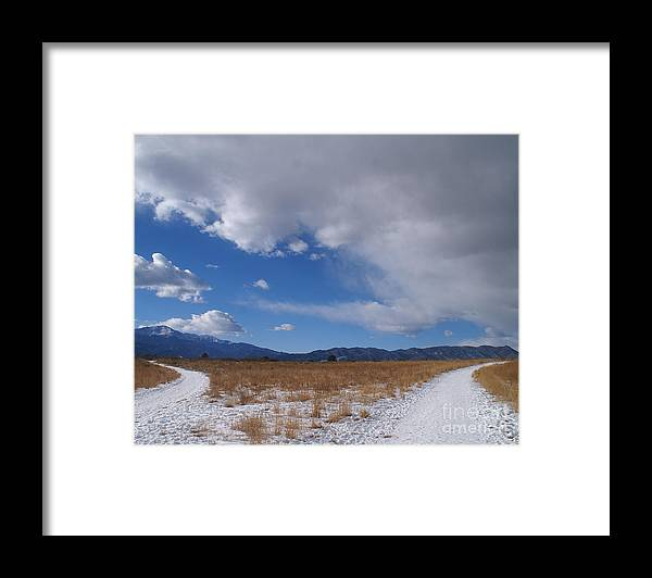 Colorado Framed Print featuring the photograph Two Paths by Jack Norton