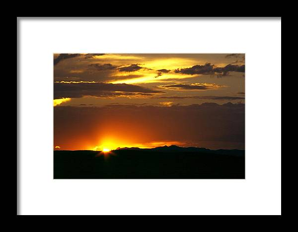 Landscape Framed Print featuring the photograph Two Peaks Sunset by Lynard Stroud