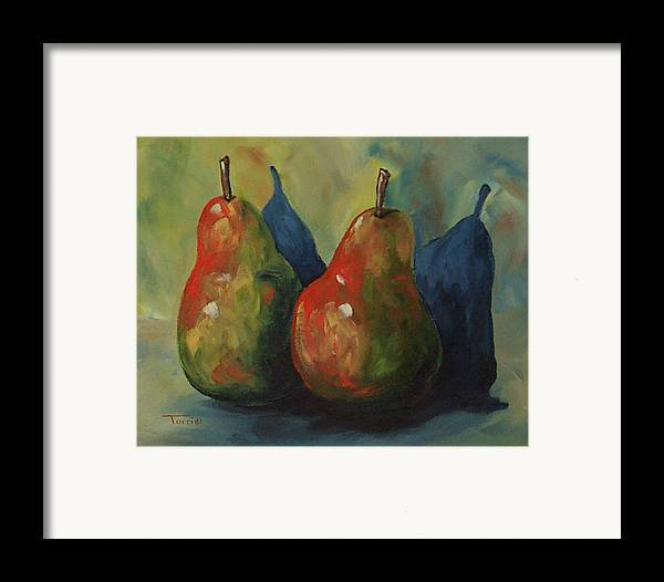 Pear Framed Print featuring the painting Two Pears by Torrie Smiley