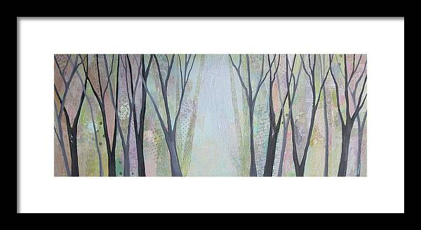 Tree Framed Print featuring the painting Two Roads I by Shadia