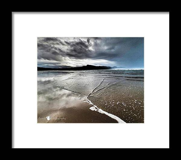Beach Framed Print featuring the photograph Two Skies by Stephanie McGuire