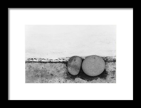 Abstract Framed Print featuring the photograph Two Stones - Sao Miguel - Azores by Henry Krauzyk