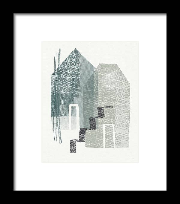 Houses Framed Print featuring the painting Two Tall Houses- Art By Linda Woods by Linda Woods