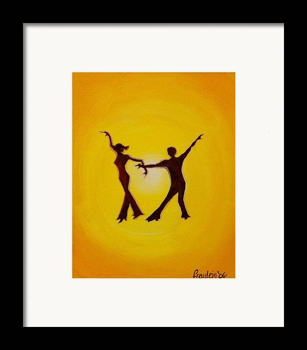 Contemporary Framed Print featuring the painting Two To Tango by Glory Fraulein Wolfe
