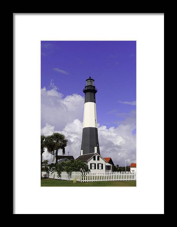 Georgia Framed Print featuring the photograph Tybee Island Lighthouse by Elizabeth Eldridge