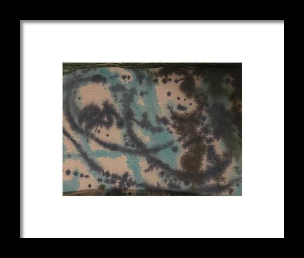 Framed Print featuring the drawing Tye Dye 3 by Catherine Raillon