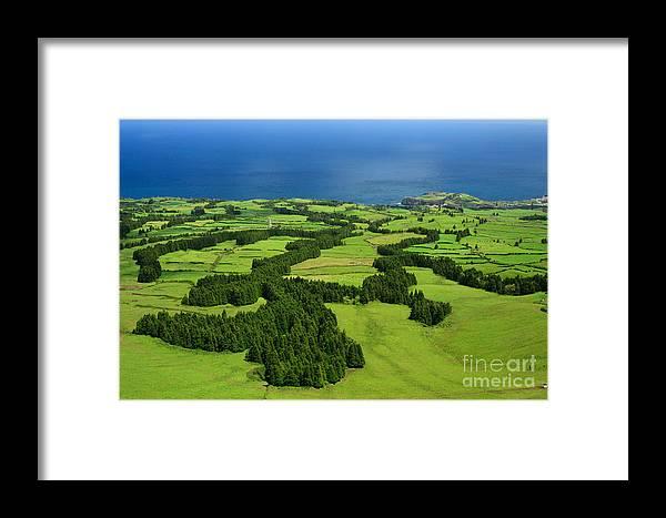 Landscape Framed Print featuring the photograph Typical Azores Islands Landscape by Gaspar Avila