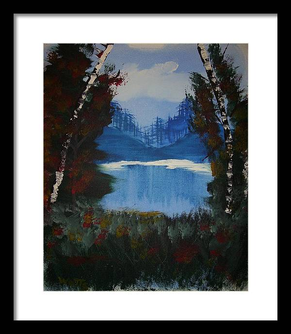 Lake Framed Print featuring the painting Typical Lake by Chris Watts