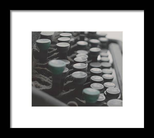 Typewriter Framed Print featuring the photograph Typist by Katie Miller