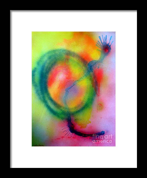 Tzfat Framed Print featuring the painting Tzfasser 41 by Dov Lederberg