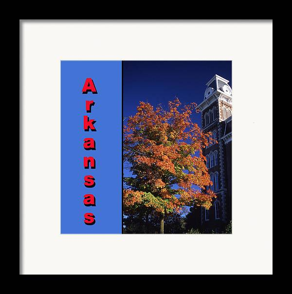 University Of Arkansas Framed Print featuring the photograph U Of A Old Main by Curtis J Neeley Jr