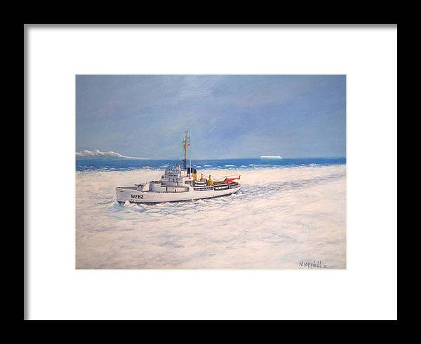 Ships Framed Print featuring the painting U. S. Coast Guard Icebreaker Northwind by William H RaVell III