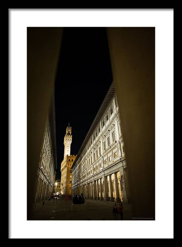 Italy Framed Print featuring the photograph Uffizi by Luigi Barbano BARBANO LLC