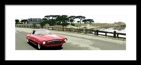 Automobile Framed Print featuring the photograph UFO by Alan Olmstead