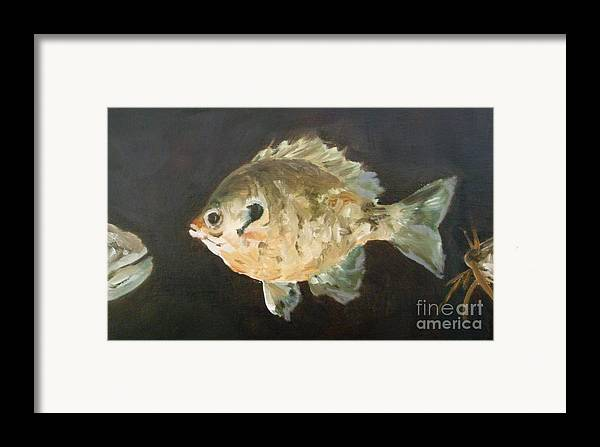 Fish Framed Print featuring the painting Uh-oh by Debbie Anderson