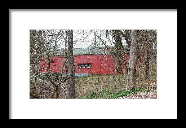 Uhlerstown Framed Print featuring the photograph Uhlerstown Covered Bridge by Ken Keener